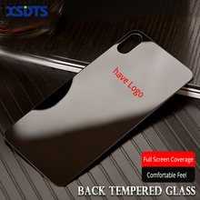 XSDTS Back Glass For iPhone X XR XS Max 7 8 Plus 10 Tempered Glass 9H 2.5D have Logo Screen Protector Back Film(China)