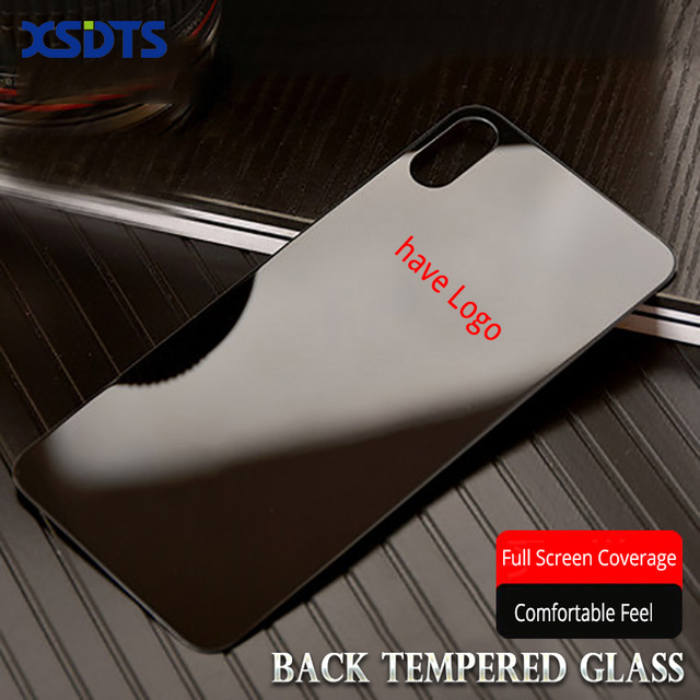 XSDTS заднее стекло для iPhone X XR XS Max 7 8 Plus 10 закаленное стекло 9 H 2.5D имеет защитную пленку для экрана с логотипом