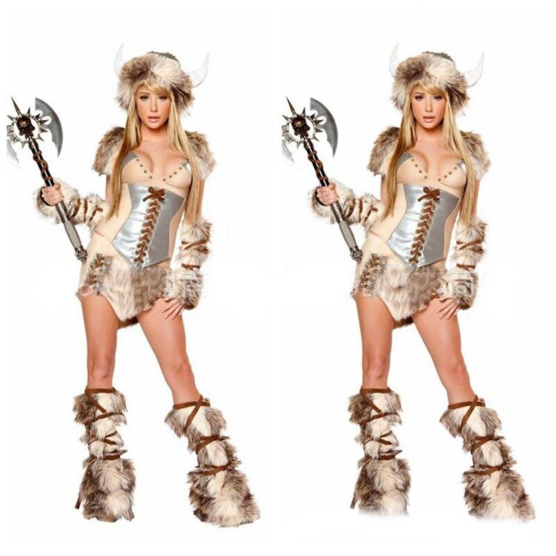 Nouveau Costume de Pirate Viking Halloween de haute qualité Costume de guerrier Cosplay démon uniforme tentation guerrier en peluche Anime cerf