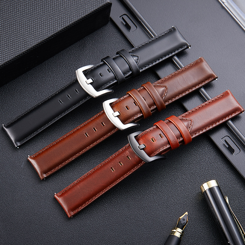 High-end and high-quality watch strap  Leather Italian leather head switch ear smart