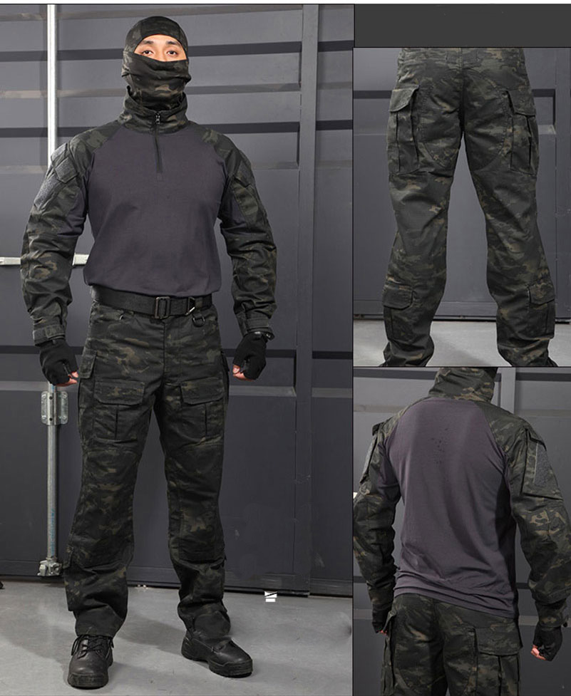 tactical military outdoor uniforms of shirt and pants for