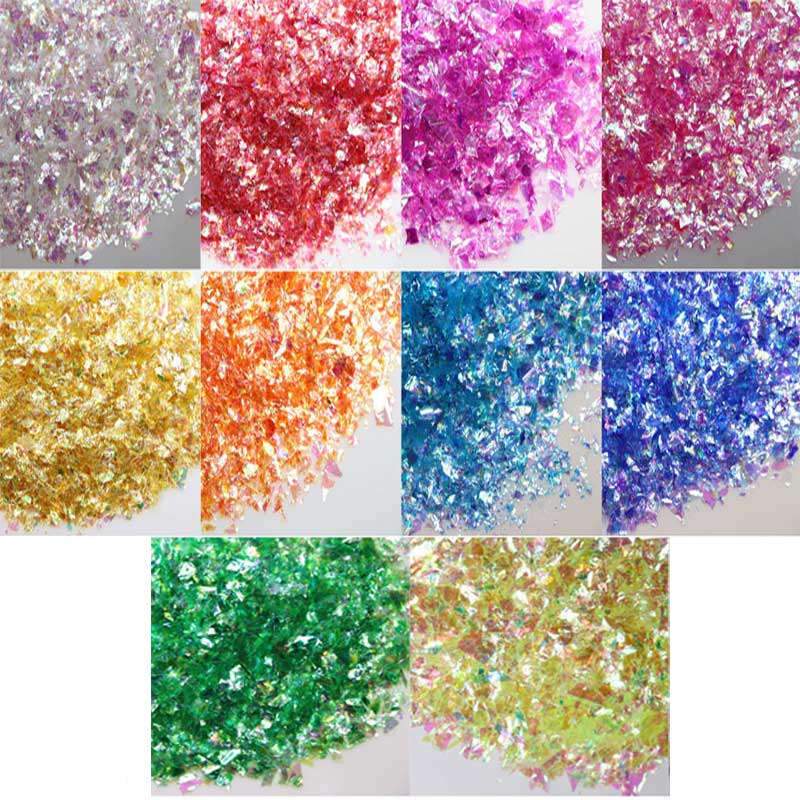 Glitter Diy Crystal Slime Supplies Slices Nails Art Tips Box Accessories Decoration Toys For Kids Modeling Clay Diy Kit Gift E
