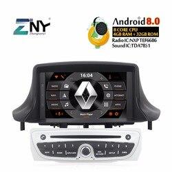 Android 8.0 Car DVD Autoradio Per Megane 3 2009-2014 Fluence 7 IPS Audio Video Multimedia FM GPS di navigazione Stereo del Regalo Della Macchina Fotografica