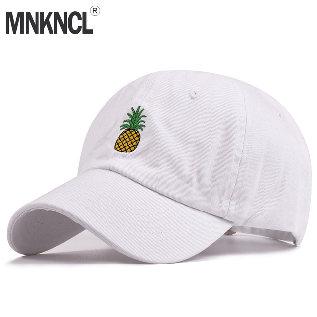 Hot Selling Men Women Pineapple Dad Hat Baseball Cap Leisure Style  Unconstructed Fashion Unisex Dad Cap Hats Free Delivery e2ad6d387769