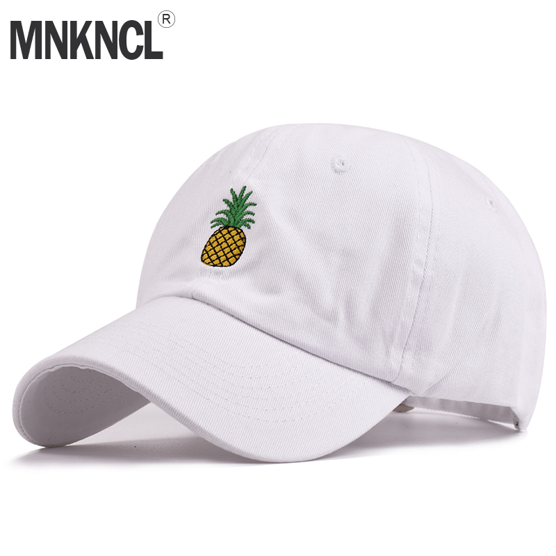 Hot Selling Men Women Pineapple Dad Hat Baseball Cap Polo Style Unconstructed Fashion Unisex Dad Cap Hats Free Delivery hot unisex women winter plicate baggy beanie knit crochet cap oversized slouch hat 225p