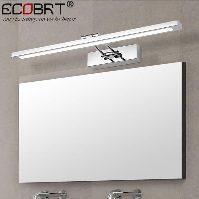 Specchio Bagno Con Braccio.3 Cm 55 Luci Acciaio Lunghezze Parete Applique In Specchio A