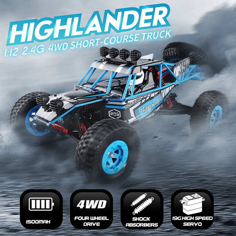Original JJRC Q39 1:12 4WD RC Off-Road Drive Car Truck RTR 35km/h Fast Speed HIGHLANDER High-torque For Children Gifts jjrc q39 84 fy clo1 wheel for q39 rc car 2pcs page 8