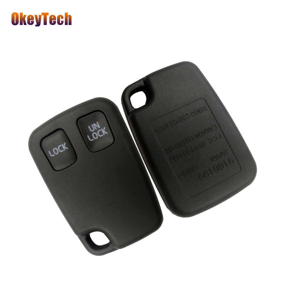 OkeyTech 2 Buttons <font><b>Replacement</b></font> Car <font><b>Key</b></font> Shell Remote <font><b>Key</b></font> Fob Case Alarm Cover Case for <font><b>VOLVO</b></font> <font><b>S40</b></font> S60 S70 S80 S90 V40 V70 V90 XC70 image