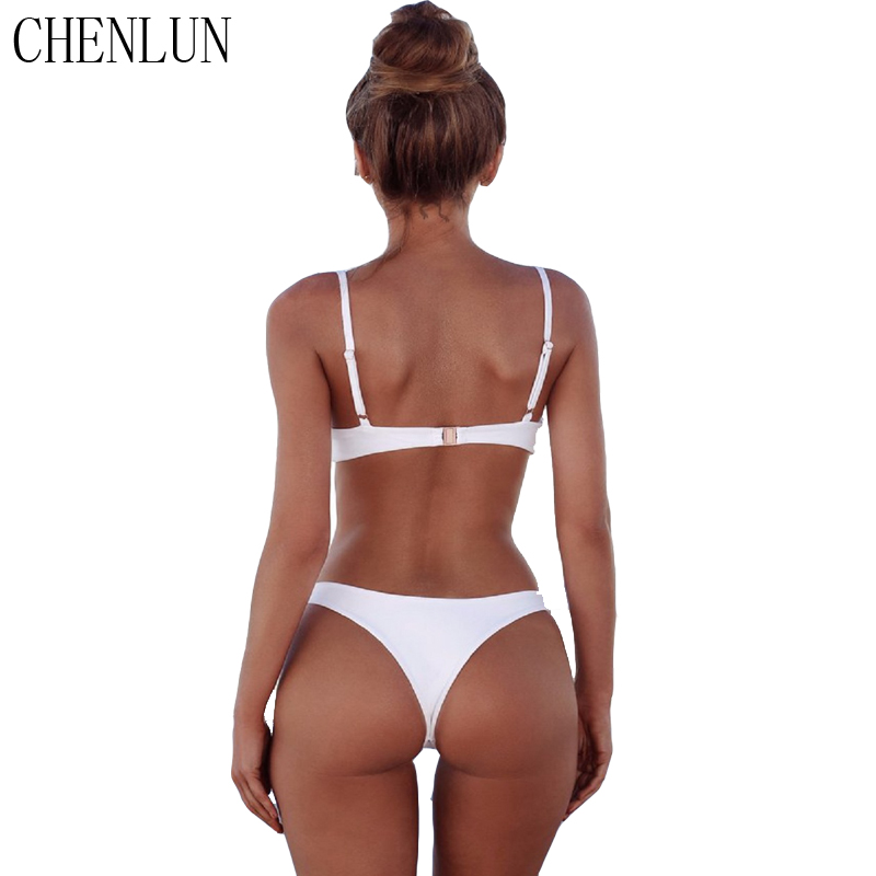 CHENLUN 2018 sexy Bikini Set Summer Solid color Swimwear Brazilian Bikini Women Beach Wear Bathing Suit Popular Female Swimsuit  3