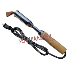 High Power Electric Soldering Iron External Heating Wooden Handle Electric Soldering Iron Hot Embossing Stamping Soldering Iron