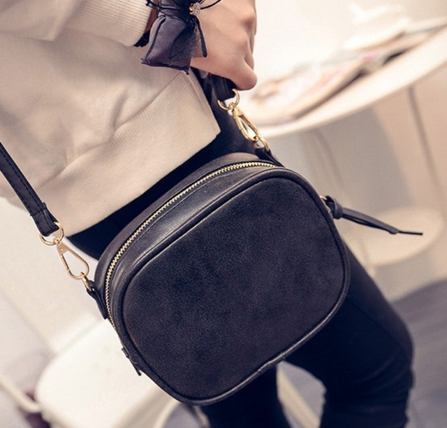 2017 New Women Bag Scrub Brief Vintage Bag Mini Women's Handbag Girls Messenger Bag Female Crossbody Shoulder Bag
