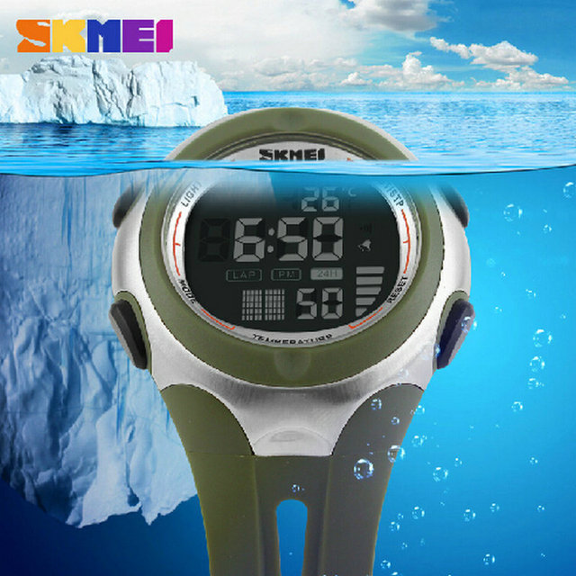 Favourite 2016 watch waterproof digital Men's Sports Wristwatches LED Relogios Boy Electronics Students Young display Alarm