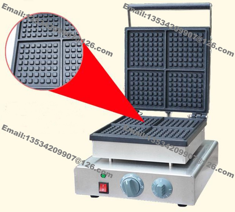 Free Shipping 4 Slice Commercial Non Stick 110v 220v Electric Square Traditional Belgium Belgian Waffle Maker Iron Baker Machine In Makers From Home
