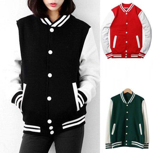 fc537506af7 Plus Size Spring Autumn Jaqueta Baseball Feminina Jacket Women 2015  Harajuku College Coat Veste Femme Chaquetas Mujer WWW121