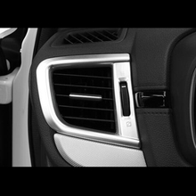 For Honda CR-V CRV 2017 2018 ABS Chrome Accessories Car Left And Right Conditioner Air Outlet Cover Trim Sticker Car Styling for honda crv cr v 2012 15 16 hight match center console switch button cover air conditioner outlet vent covers accessories 1pcs