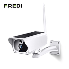 FREDI 1080 P Солнечная зарядка Беспроводная ip-камера Wi-Fi водостойкая цилиндрическая камера видеонаблюдения IR ночного видения камеры видеонаблюдения