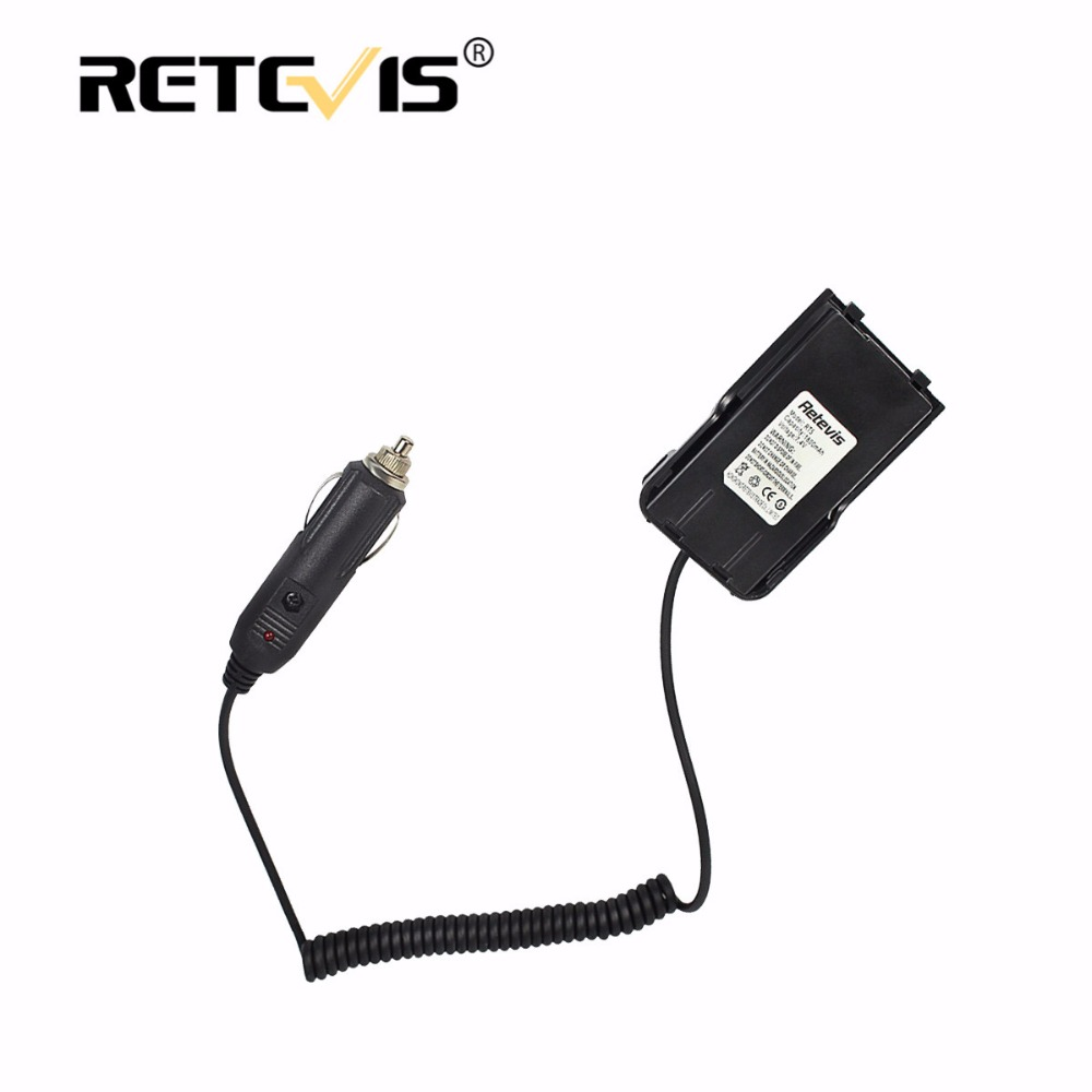 Black Car/Vehicle Charger Battery Eliminator DC 12V For Black/Red/White Retevis RT5 Walkie Talkie Accessories J9108J