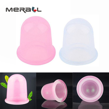 Silicone Anti Vacuum Cupping Cellulite Massage Cup Therapy Body Relaxation Health Care Tool Pink White
