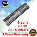 Atacado novo 6 células bateria do portátil para asus eee pc 1225 1215 1025 1025c 1025ce a31-1025 a32-1025 frete grátis