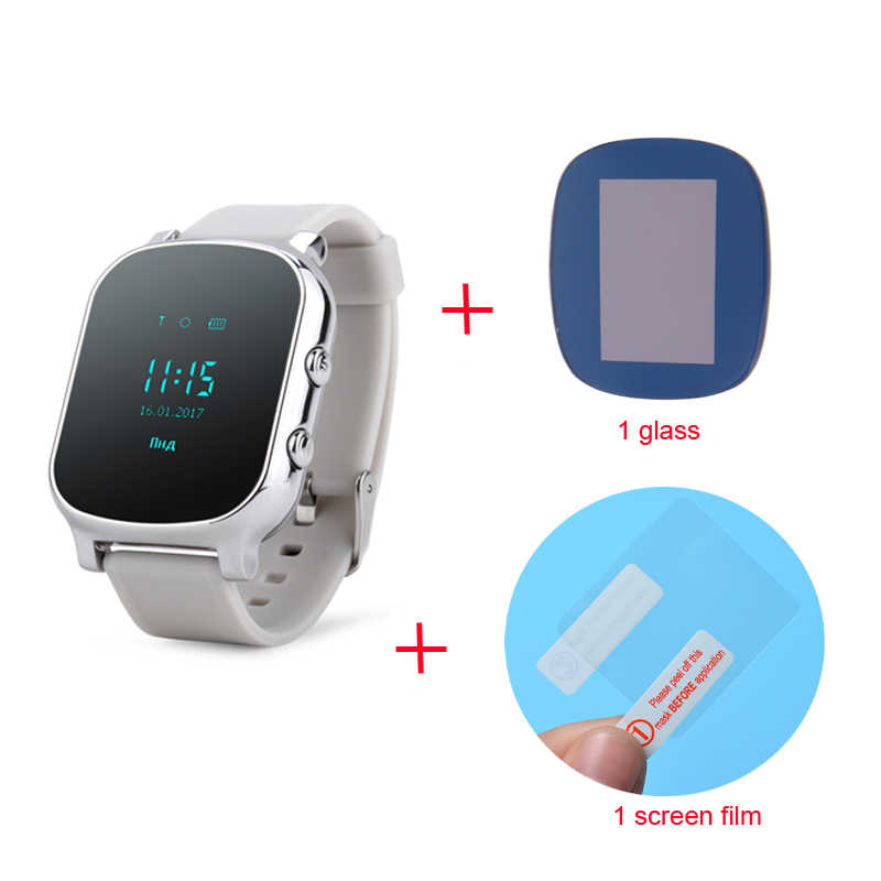 Smart Watch T58 with Glass Films GPS Smart Watch Support SIM Card GPS  Finder Wearable Activity Tracker for Children Adults