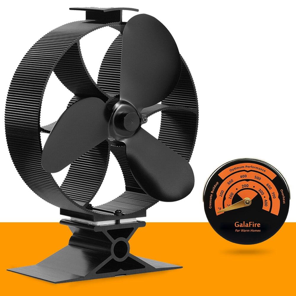 2017 New Heat Powered Stove Fan Circulate Heat 300 Cubic Feet Minute Eco Fan Wood Stove