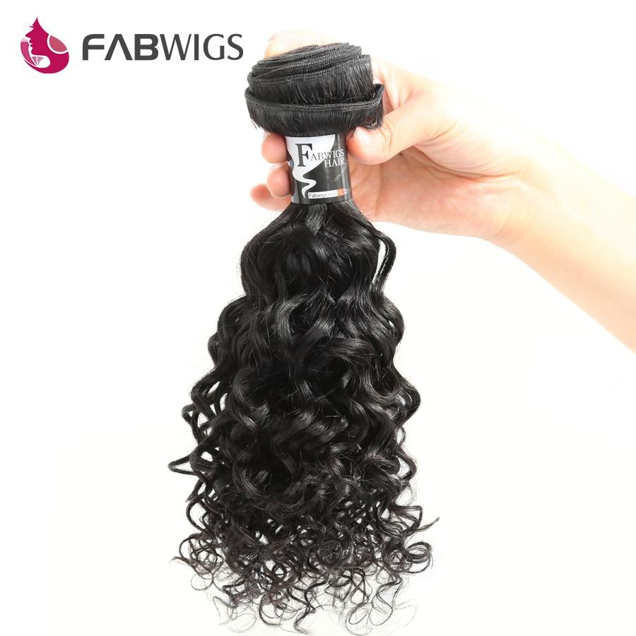 Fabwigs Human Hair Bundles Brazilian Curly Hair Extension 10-28inch Natural Color 100% Remy Human Hair Weave Bundles