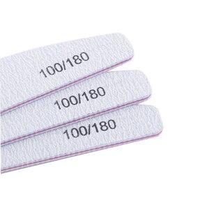 Image 3 - 100 ชิ้น/ล็อตเล็บแฟ้ม 100/180 กระดาษทรายฟองน้ำขัดเล็บบัฟเฟอร์บล็อกด้าน Cuticle Remover เครื่องมือทำเล็บมือ