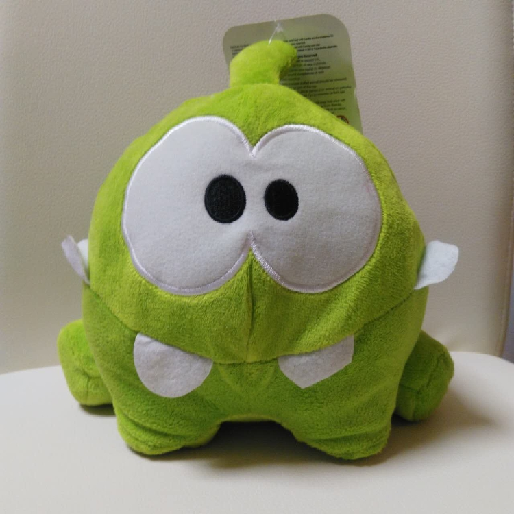"""Free shipping Cut The Rope 8"""" Happy Om Nom Plush doll stuffed toys for birthday gift"""