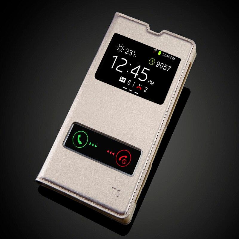 Sony Xperia T3 M50W D5103 Moda Görünüşü Pəncərə Dəsti PU - Cib telefonu aksesuarları və hissələri - Fotoqrafiya 1