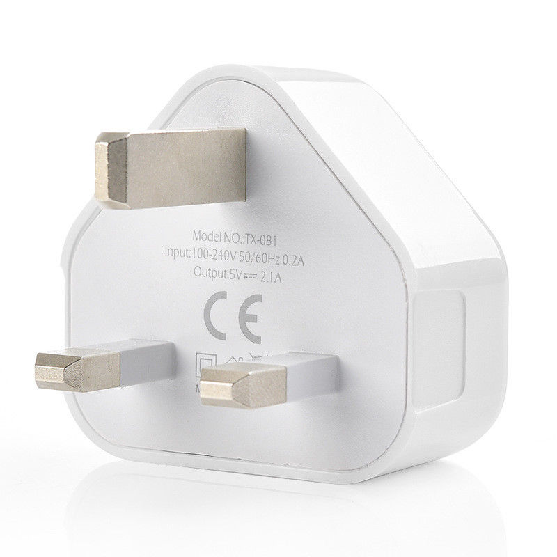 Image 3 - UK Plug Single USB Double USB 3USB Adapter Mains 3 Pin Plug USB Adaptor Wall Charger Travel Charging Cable 5V2 1A For Apple-in Electrical Plug from Consumer Electronics