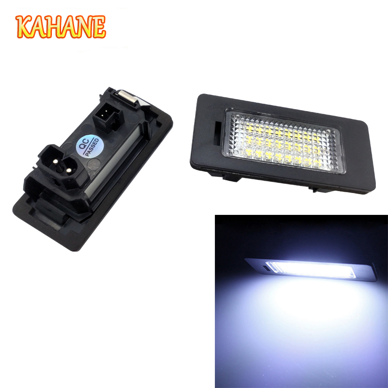 KAHANE 2x LED Car License Plate Light Lamp 24 SMD White Error Free For BMW E39 E60 E61 E90 E91 M3 M5 X5 X6 кроссовки asics кроссовки gel zaraca 4 gs