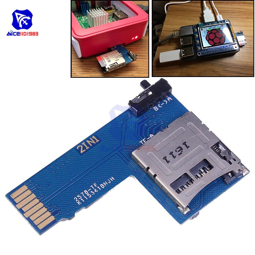 2 In 1 Micro SD/TF Card Memory Storage Board Shield Module Dual System Switcher For Raspberry Pi B+ 2B 3B Zerodual