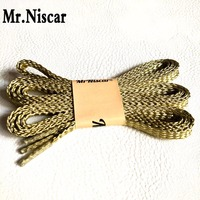 Mr Niscar 1 Pair Double Layer Thick Flat Shoelaces Brands Casual Sneaker Polyester Shoe Laces String