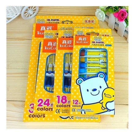 36 Colors Set one Box, Washable Oil Pastel Crayons and Markers Set Water Wash Wax Crayon for Kids ,the Drawing Tools for  kids
