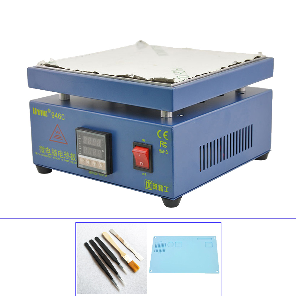 200*200MM Electronic Plate Preheating Station For PCB SMD BGA Preheater Digital Thermostat Platform Heating Plate UYUE 946C