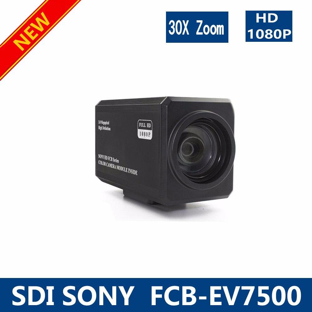 Free shipping SDI-SONY FCB-EV7500 2 Megapixel 30x HD Color Block Zoom Camera SONY SDI Camera high zoom camera module SDI camera