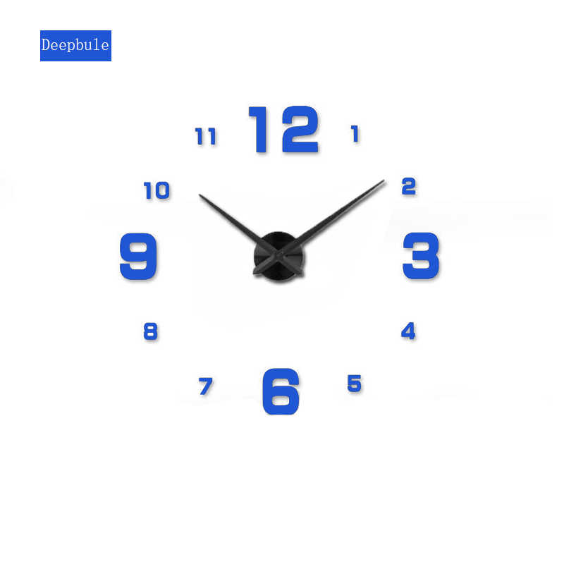 2019 muhsein フル黒壁時計モダンな DesignHome 装飾ビッグミラー 3D DIY 大型装飾的な壁時計ユニークなギフト