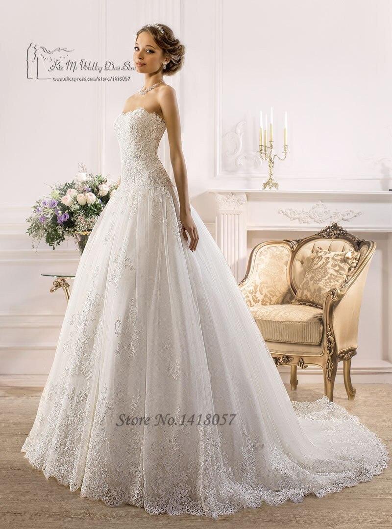 Modest Purple And White Wedding Dresses Strapless Detachable Sash Lace Bridal Dress Plus Size Corset Back Vestidos De Noiva 2016 In From