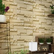 3d wall stickers non woven fabric retro brick wall stickers clothing shop hotel grandeur decoration - Brick Hotel Decoration