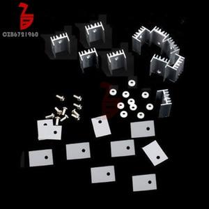 10PCS TO-220 Silver Heatsink Heat Sink for MOSFET Voltage Regulator(China)