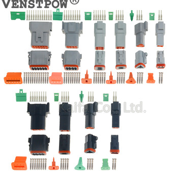 1 zestaw Deutsch DT złącze DT06-2S DT04-2P 2P 3P 4P 6P 8P wodoodporne złącze elektryczne do samochodów ciężarowych z pinami 22-16AWG tanie i dobre opinie Deutsch DT06 DT04 2 3 4 6 8 12 Pin VENSTPOW
