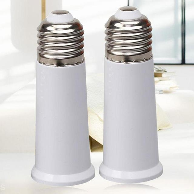 LumiParty E27 65mm Light Bulb Extend Socket Base Lamp Holder Converter Light Bulb Cap Conversion Adapter