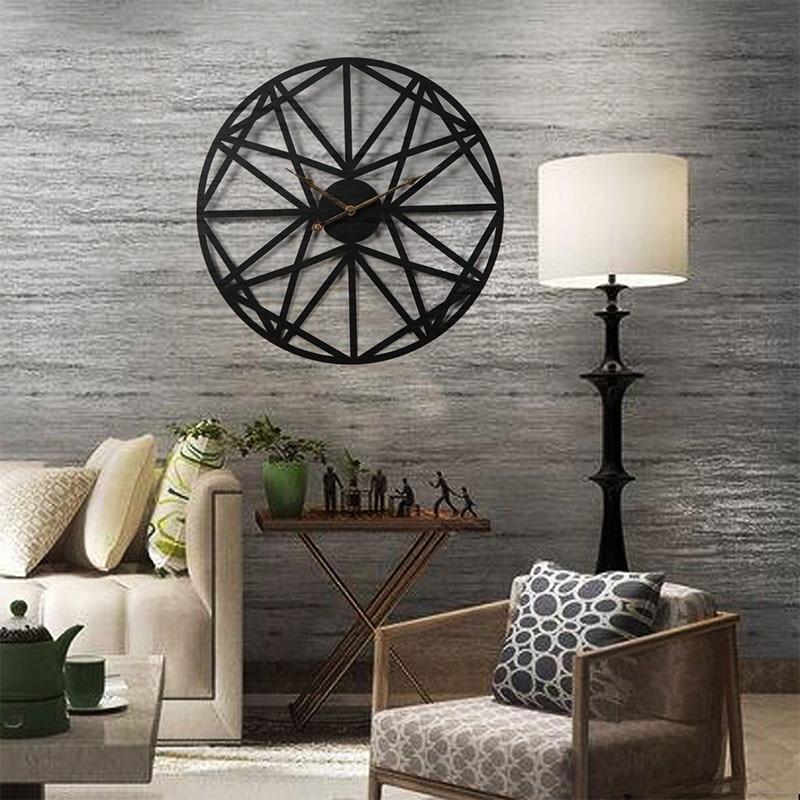 Creative Silent Wall Clock 3D Retro Rustic DIY Decorative Luxury Wooden Handmade Oversized Wall Clock For Home Bar Cafe Decor