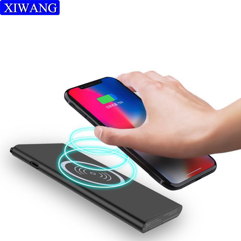 Wireless Charger USB Power Bank for iPhone 8 X Samsung galaxy S8 Nokia lumia 930 fast charger Portable 10000mAh External Battery