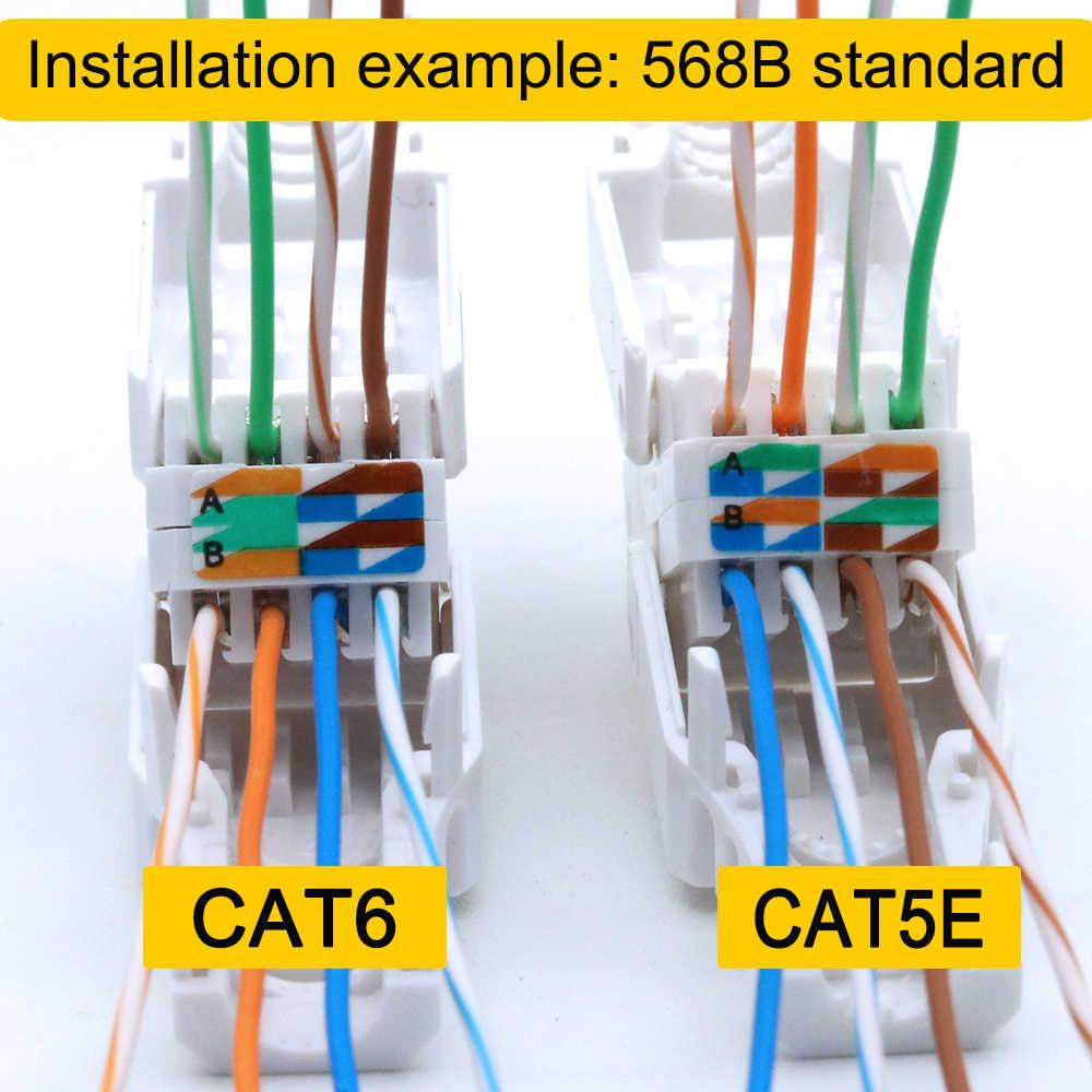 Xintylink Toolless Rj45 Ethernet Cable Connector Cat6 Plug Cat5 Cat5e Network Rj 45 Lan Conector Cat 6 Utp Jack Modular Keystone Cat 6 Cat6 Rj45rj 45 Aliexpress
