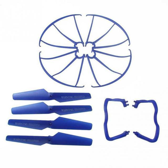 Lightweight Drone Accessories 4 pcs Blade/Tripod/Protection ring Main Propeller Replacement Spare Parts for Syma X5 X5C 3