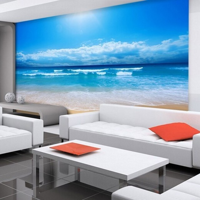 Beibehang Custom 3d Photo Wallpaper 3d Wallpaper Bedroom 3d Living Room  Natural Sea View Beach Sunshine