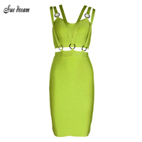 2017 Summer New Women Mini Dresses Sexy V Neck Sleeveless Vestidos Army Green Hollow Out Celebrity