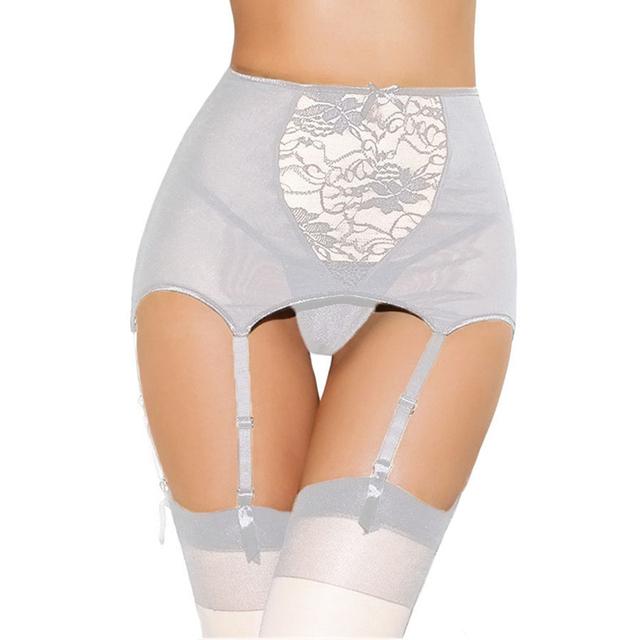 Wedding Garter Set Lace Flower Bridal Garter Stockings Suspender Belt Size XL XXL XXXL XXXXL