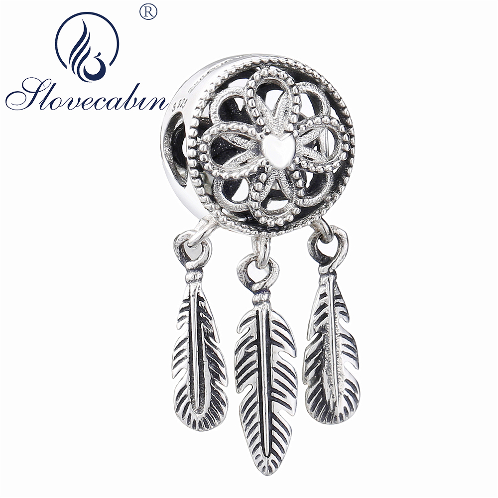 Slovecabin 2018 Summer Spiritual Dream Catcher Dangle Charm Pendants 925 Sterling Silver Making Jewelry Fit Charms Bracelet наушники fischer audio dream catcher spiritual violet